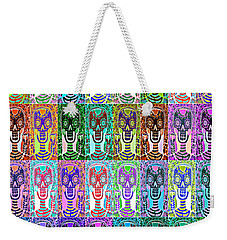 Silberzweig - Sugar Skulls And Owls - Bone Rainbow -  Weekender Tote Bag