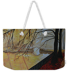 Weekender Tote Bag featuring the painting Silence by Leslie Allen