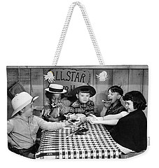 Weekender Tote Bag featuring the photograph Little Rascals by Granger