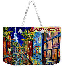 Silent Night Christmas Card Weekender Tote Bag