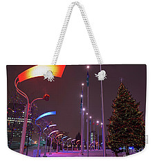 Weekender Tote Bag featuring the photograph Silent Night.. by Nina Stavlund