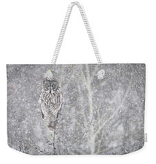Weekender Tote Bag featuring the photograph Silent Snowfall Landscape by Everet Regal