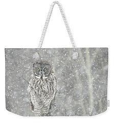 Silent Snowfall Portrait II Weekender Tote Bag