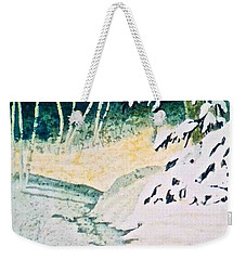 Weekender Tote Bag featuring the painting Silent Stream by Carolyn Rosenberger