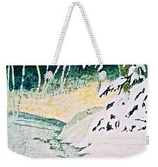 Silent Stream Weekender Tote Bag