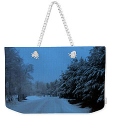 Weekender Tote Bag featuring the photograph Silent Winter Night  by David Dehner