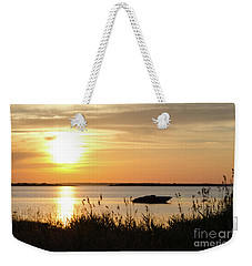 Weekender Tote Bag featuring the photograph Silhouette By Sunset by Kennerth and Birgitta Kullman