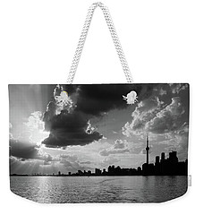 Silhouette Cn Tower Weekender Tote Bag