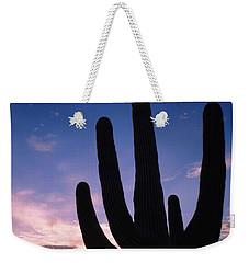 Silhouette Of A Cactus, Four Peaks Weekender Tote Bag