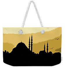 Silhouette Of Mosques In Istanbul Weekender Tote Bag