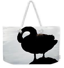 Silhouetted Swan Weekender Tote Bag