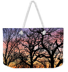 Weekender Tote Bag featuring the photograph Silhouettes At Sunset by Chris Berry