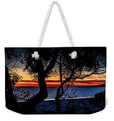 Silhouettes Over Blue Water Weekender Tote Bag