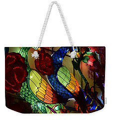 Silk Peacocks Weekender Tote Bag