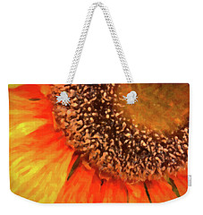 Weekender Tote Bag featuring the photograph Silk Sunflower by SR Green