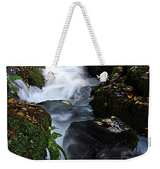 Weekender Tote Bag featuring the photograph Silky Falls by Baggieoldboy