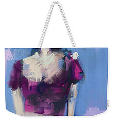 Weekender Tote Bag featuring the digital art Silky Red by Jim Vance