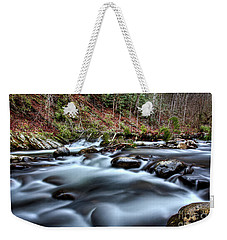 Weekender Tote Bag featuring the photograph Silky Smooth by Douglas Stucky