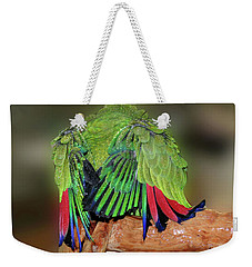 Silly Amazon Parrot Weekender Tote Bag