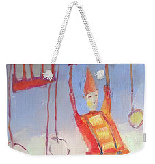 Weekender Tote Bag featuring the painting Silly Clown by Michelle Abrams