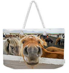 Silly Icelandic Horse Weekender Tote Bag