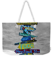 Silly Lily Fishing Station Sign Weekender Tote Bag
