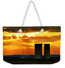 Silos At Sunset Weekender Tote Bag by Michelle Joseph-Long