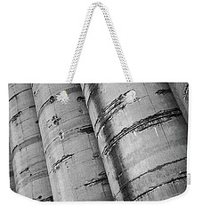 Weekender Tote Bag featuring the photograph Silos by David Pantuso