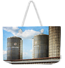 Weekender Tote Bag featuring the photograph Silos by Todd Blanchard