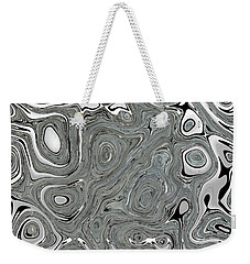 Silver Abstract Weekender Tote Bag