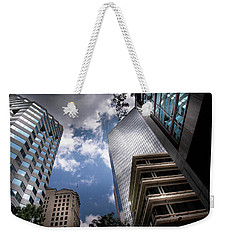Silver And Blue In Charlotte Weekender Tote Bag
