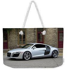 Silver Audi R8 Weekender Tote Bag