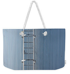 Silver Blue Silo With Steel Ladder. Weekender Tote Bag