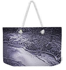 Silver Brook In Winter Weekender Tote Bag