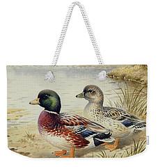 Silver Call Ducks Weekender Tote Bag