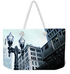 Silver El - Chicago Weekender Tote Bag