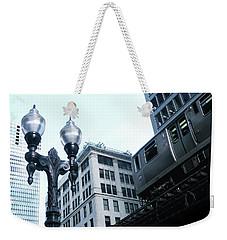 Silver El - Chicago Weekender Tote Bag