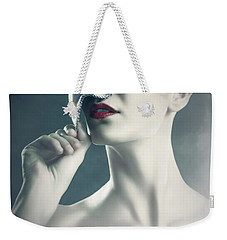 Weekender Tote Bag featuring the photograph Silver Face by Dimitar Hristov