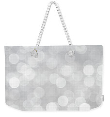 Silver Grey Bokeh Abstract Weekender Tote Bag