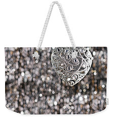 Weekender Tote Bag featuring the photograph Silver Heart by Ulrich Schade