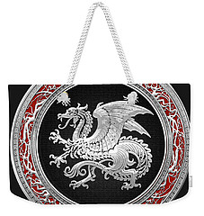 Silver Icelandic Dragon  Weekender Tote Bag