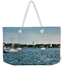 Silver Lake And Ocracoke Island Lighthouse Weekender Tote Bag