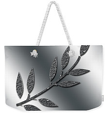 Silver Leaves Abstract Weekender Tote Bag by Aimee L Maher Photography and Art Visit ALMGallerydotcom