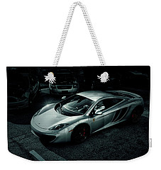Weekender Tote Bag featuring the photograph Silver Mclaren by Joel Witmeyer