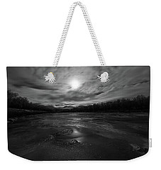 Weekender Tote Bag featuring the photograph Silver Midnight by Alex Lapidus