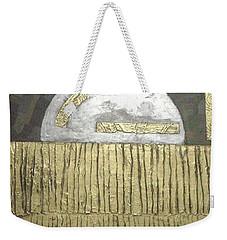 Weekender Tote Bag featuring the painting Silver Moon by Bernard Goodman