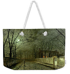 Silver Moonlight Weekender Tote Bag by John Atkinson Grimshaw