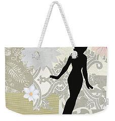 Silver Paper Doll Weekender Tote Bag
