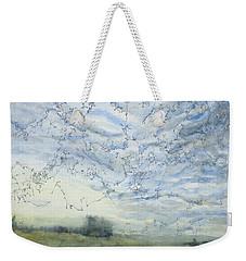 Silver Sky Weekender Tote Bag