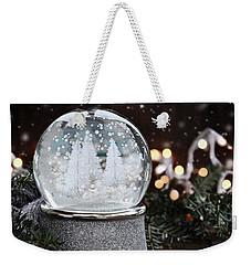 Silver Snow Globe Weekender Tote Bag